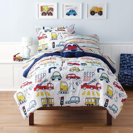 buy mainstays kids vroom twin bed set