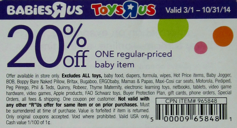 image regarding Babies R Us Coupon Printable identified as 20% Off Infants R Us Coupon MFW K Youngster coupon codes, Grocery