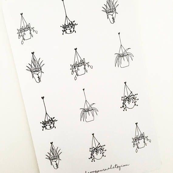 Hanging Plant Doodles