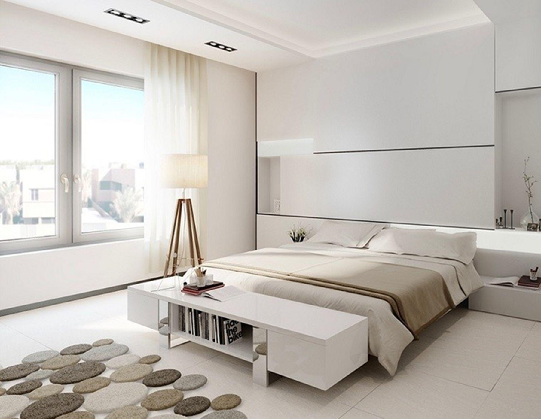 Decorating master bedroom minimalist style | White bedroom ...