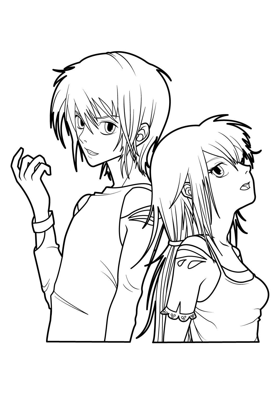 s coloriage manga fille   Coloriage manga, Image coloriage, Coloriage