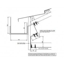 Gutter Detail at Roof Eaves | Autocad drawing | Cad blocks free, Cad