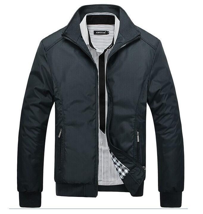 4845e031cca24 2016 musim semi padat slim mens jaket coats kasual bomber jaket pria  chaquetas hombre pria fashion jaket parka jaket M-5XL