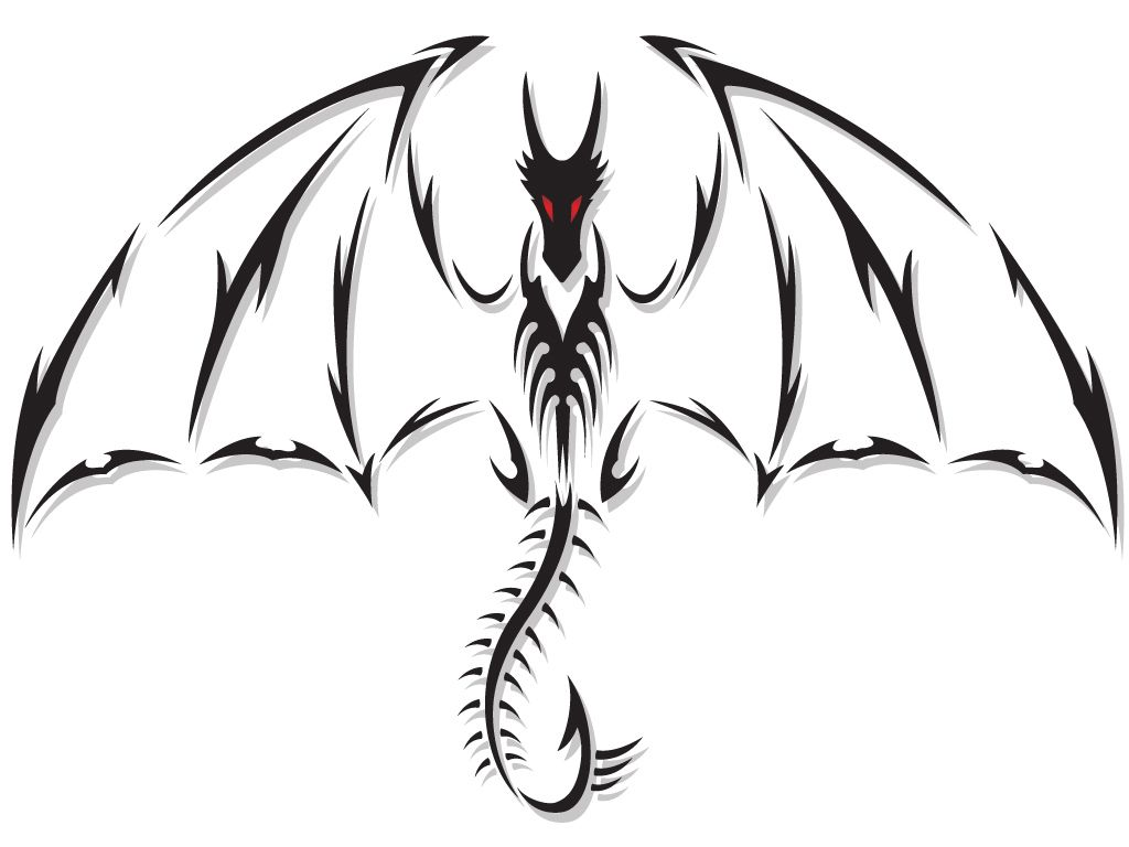 Pin By Blackmist Fang On Tattoos In 2020 Tribal Dragon Tattoos Simple Dragon Drawing Black Dragon Tattoo