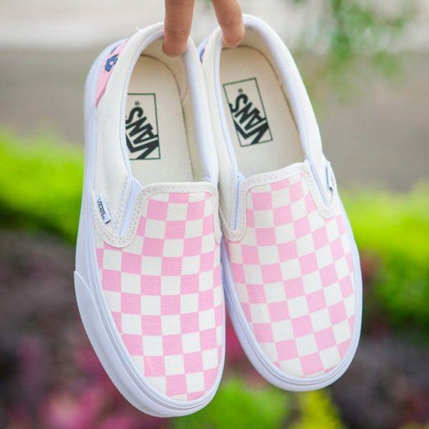 edcc7103e7 Trendsetter Vans Slip-On Canvas Tartan Old Skool Flats Sneakers Sport Shoes