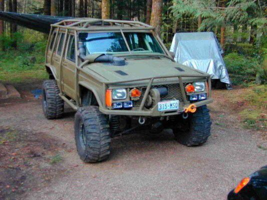 Exo Cage And Snorkeled Jeep Xj Overland Truck Jeep Cherokee Xj