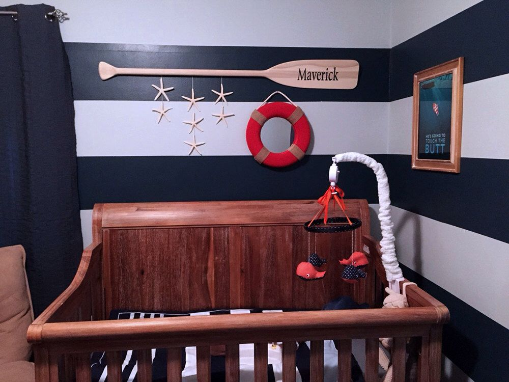 """52"""" Personalized Raw Wood Nautical Nursery Decor Paddle with Painted Name / Optional Starfish Strings / Name Sign / Canoe Oar / Beach by seaweeddesigns on Etsy https://www.etsy.com/listing/197651600/52-personalized-raw-wood-nautical"""