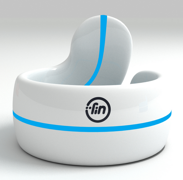 Fin is a bluetooth thumb ring that transforms your hand into a touch interface