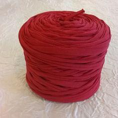 Bobine De Trapilho En Tulle Polyamide élastique Rouge