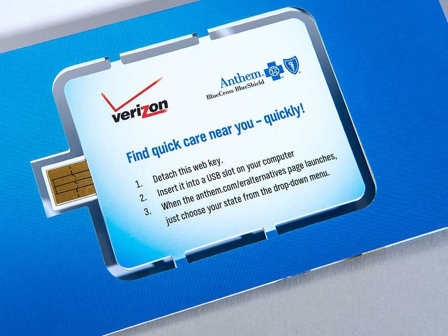 Anthem Blue Cross Blue Shield Web Key Mailer | Packaging/Mailers