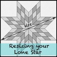 Resizing your Lone Star Patterns/Tutorials | Star quilts ... : lone star quilt pattern - Adamdwight.com