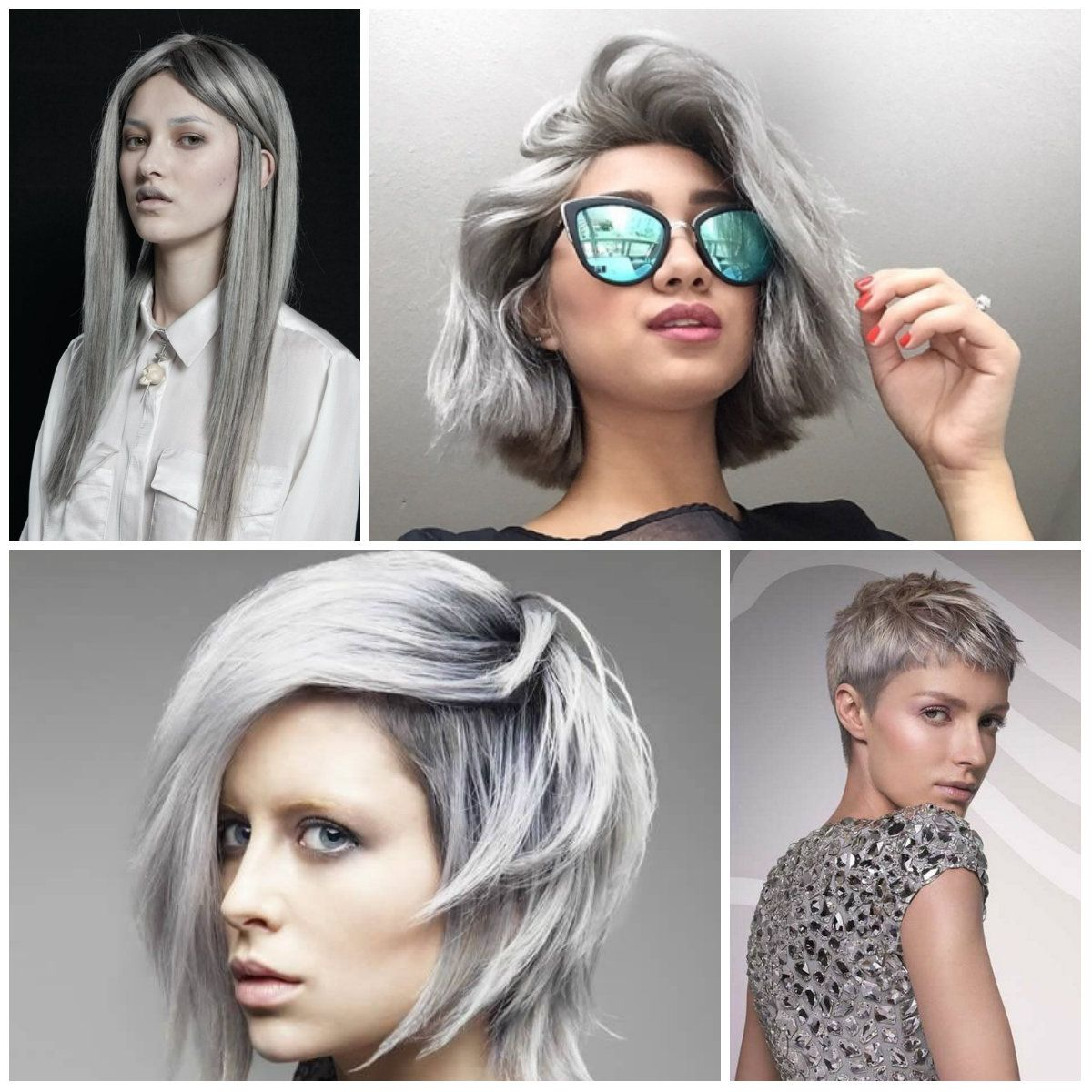 Best Hair Color Ideas Trends In 2017: 2016/2017 Trendy Grey Hair Colors And Hairstyles