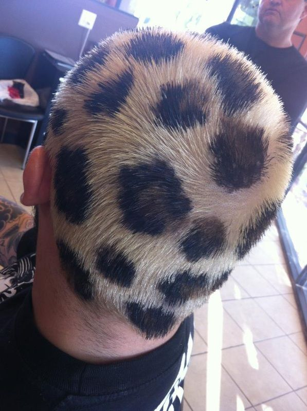 cheetah print hair