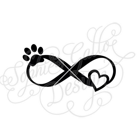 Pet Love Infinity Tattoo Svg Dxf Png Digital Download File Etsy In 2020 Infinity Tattoo Designs Infinity Tattoo Tattoos