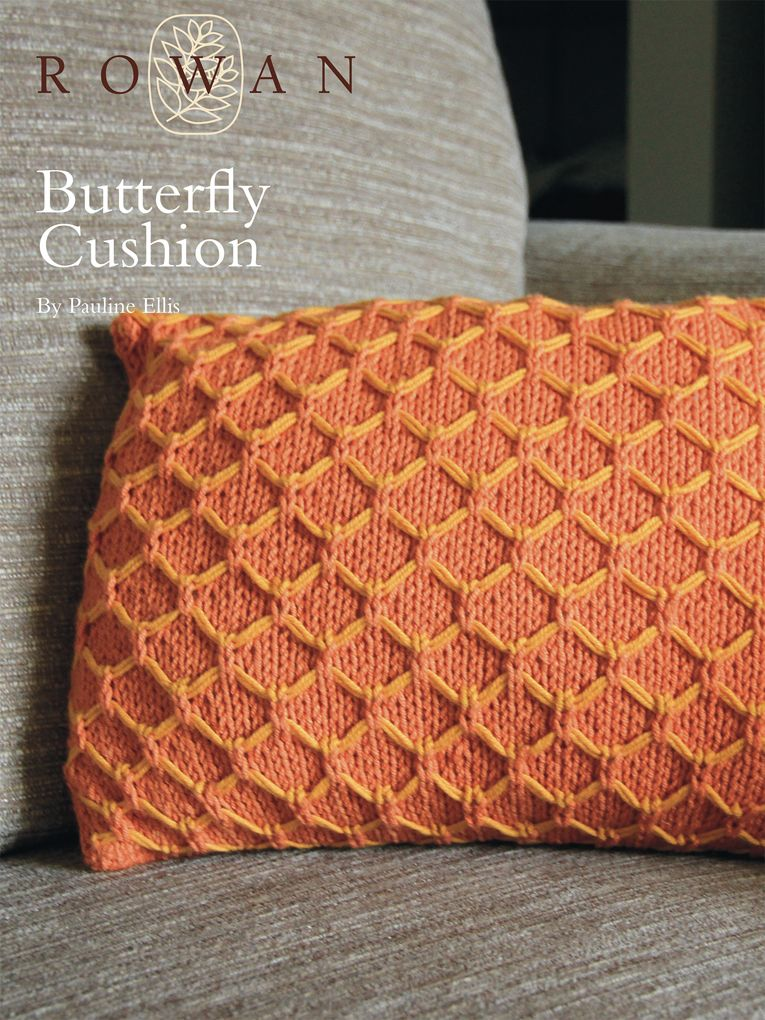 Butterfly Cushion My Knitting Projects Pinterest Butterfly