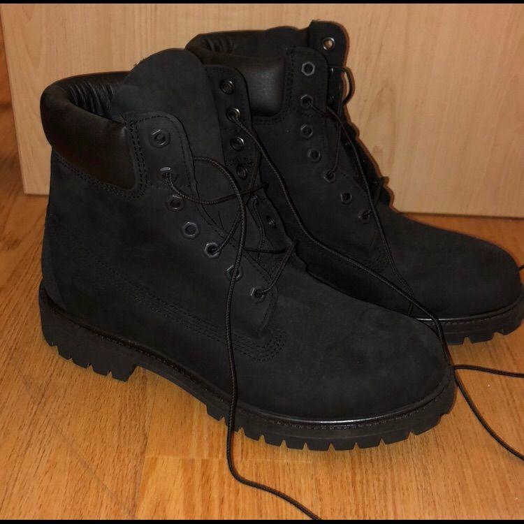 Black timbs, Black combat boots