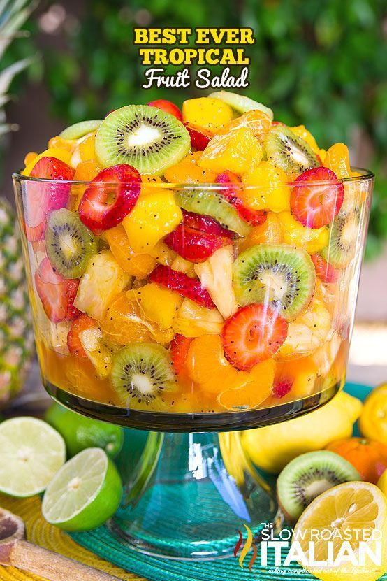 Tropical Fruit Salad is the only recipe you'll ever need. My entire picky family devoured this fruit salad. The dressing is truly magical. The combination of citrus juices with honey are phenomenal in the fruit salad dressing. Then we added a few special ingredients that give it a little nuttiness and a touch of zestiness to k......
