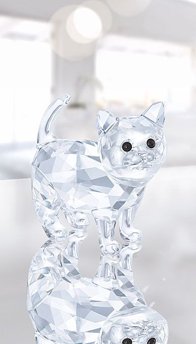 Swarovski Crystal Kitten In 2020 Swarovski Crystal Figurines Crystal Figurines Crystal Art