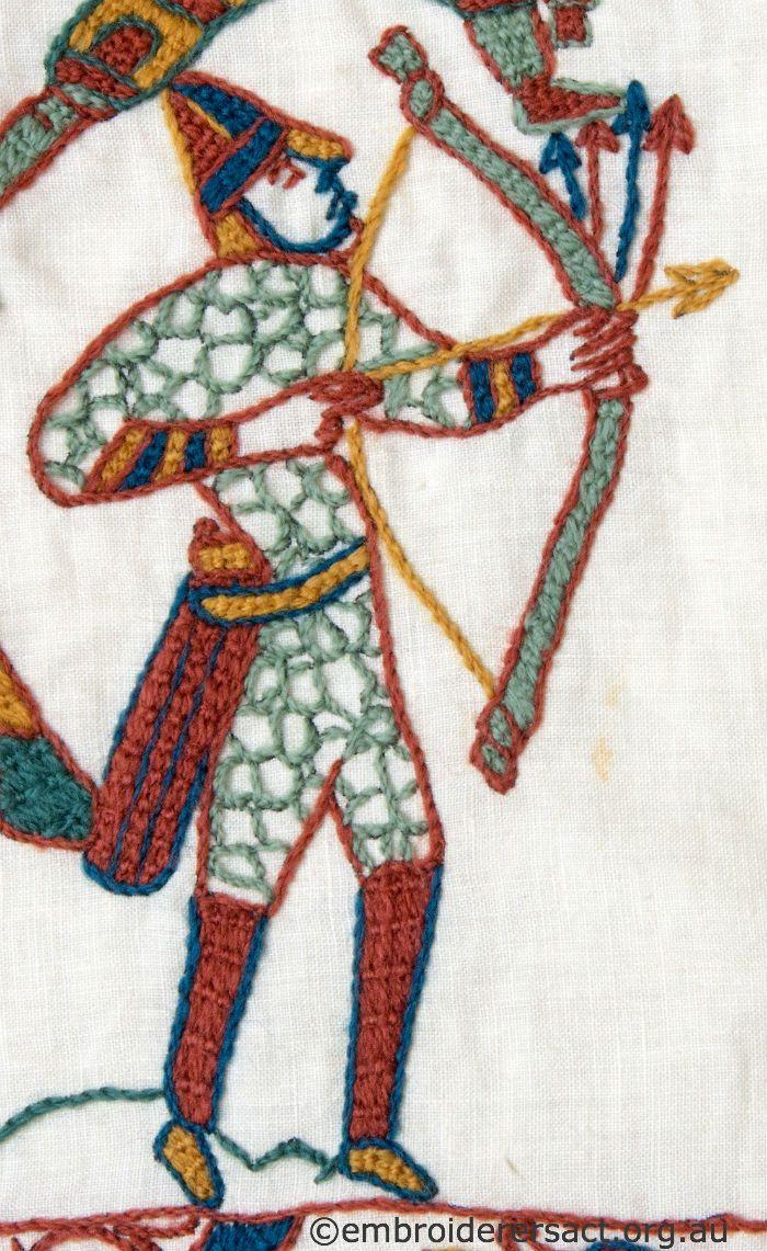Bayeux tapestry archer bordados pinterest