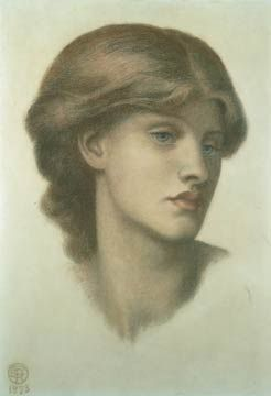 Alexa Wilding By Dante Gabriel Rossetti Coloured Chalks On Paper