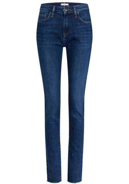 Photo of TOMMY HILFIGER Slim-fit-Jeans »VENICE SLIM RW DEMI« mit Fransen am Saum online kaufen   OTTO