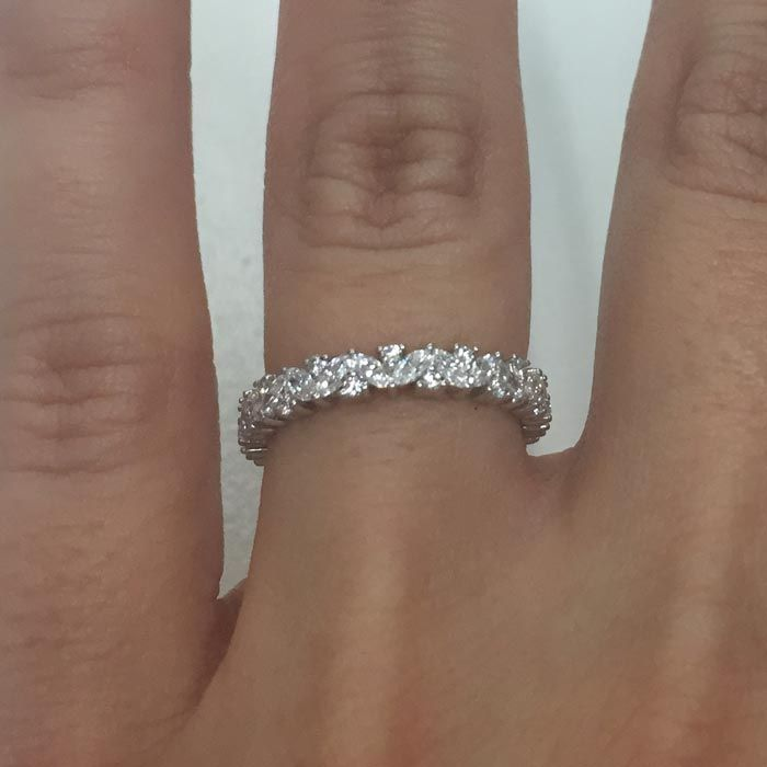Marquise And Round Diamond Laurel Eternity Ring Diamond Wedding Bands Wedding Rings Simple Eternity Ring