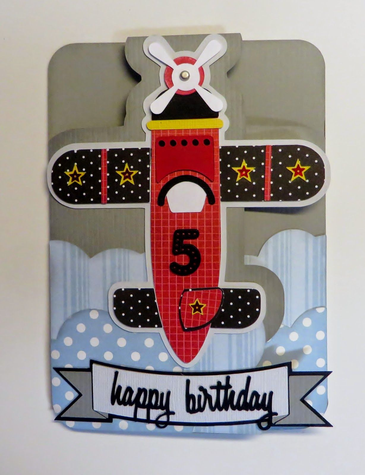 Expression Avenue Happy Birthday Airplane Card Made For 5 Year Old Boy With My Silhouette