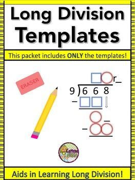 Long Division Differentiated Organizers Only Kit With Images