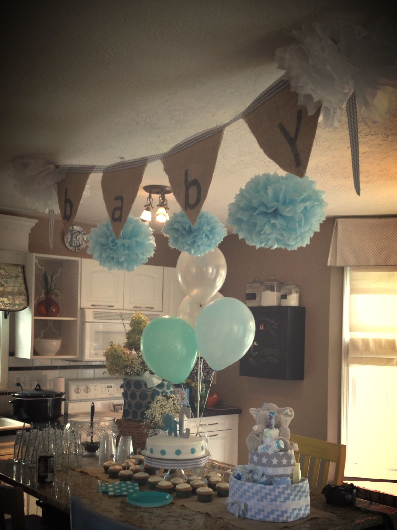 Baby Shower. Burlap BABY.