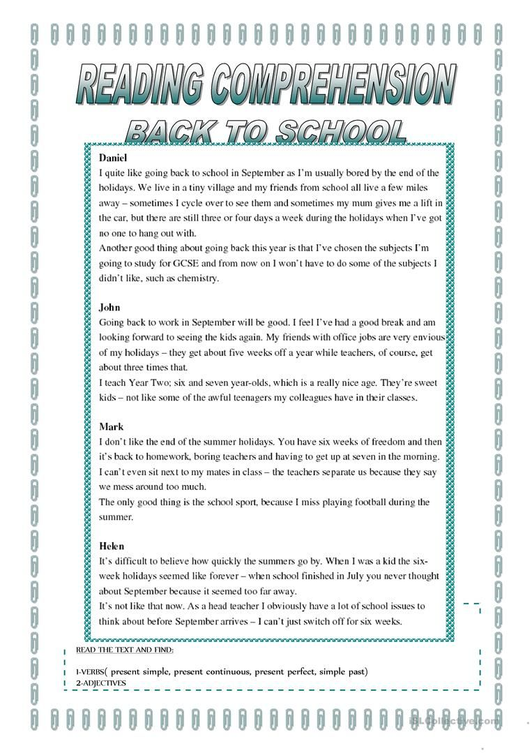 Back To School Worksheet Free Esl Printable Worksheets Made By Teachers Back To School Worksheets School Worksheets Back To School