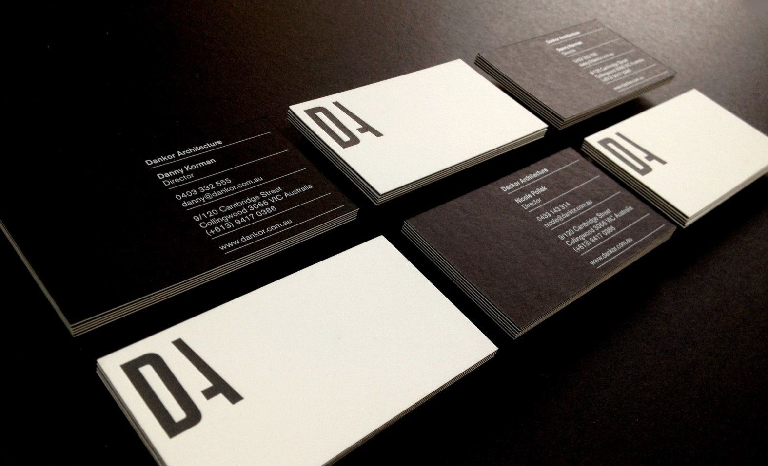Dankor Architecture Business Cards U2013 Digital White Printed On Notturno  Black Card Then Duplexed To Black Letterpress Printed On Concept Radiance  Card.