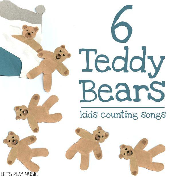 Six Teddy Bears Asleep In Bed : Counting Songs   Teddy bear