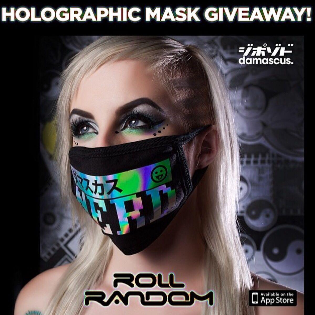 ROLLRANDOM_APP & DamascusApparel 4 Holographic Mask
