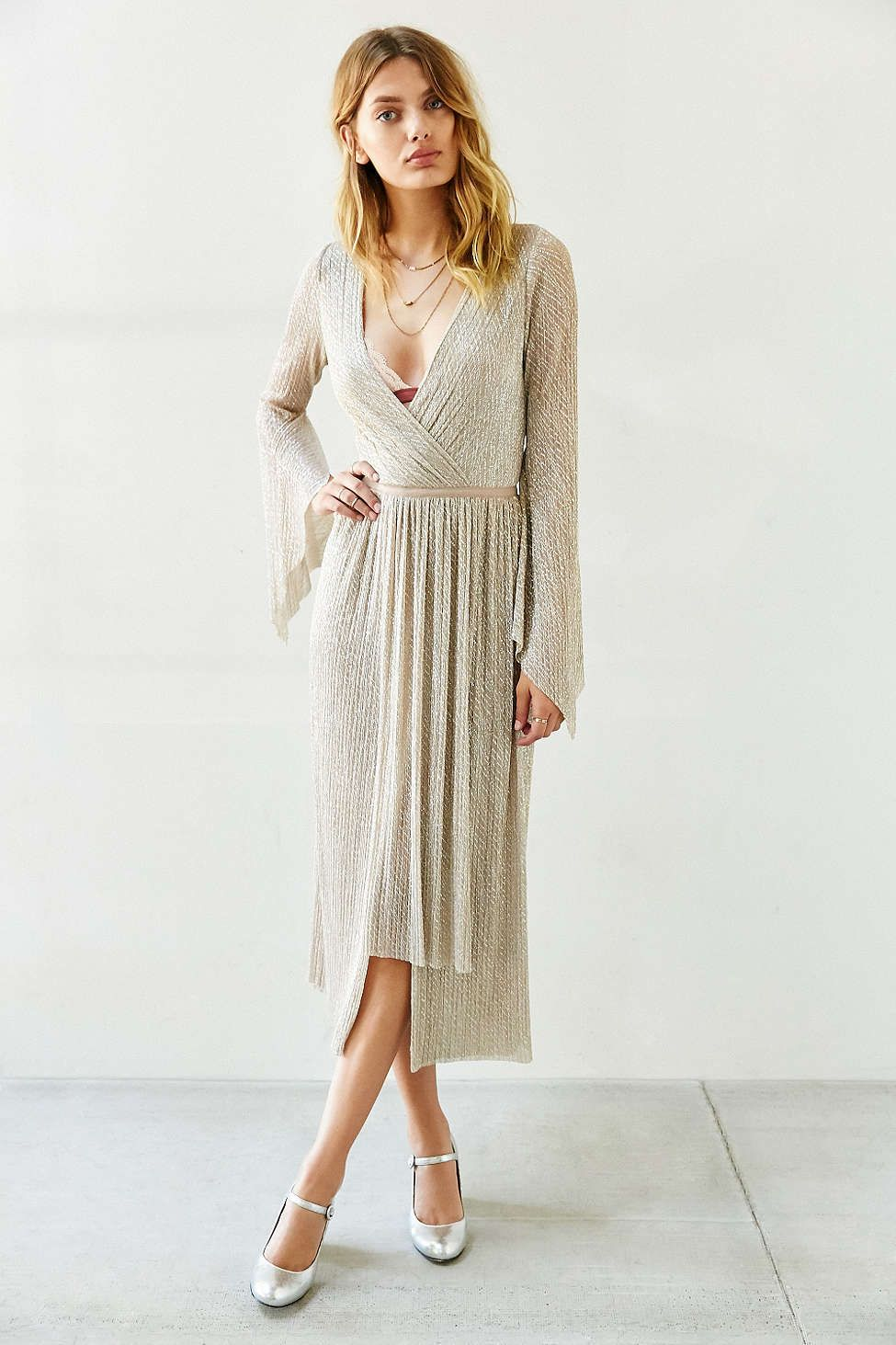 Bec u bridge gold dust maxi dress urban outfitters dresses
