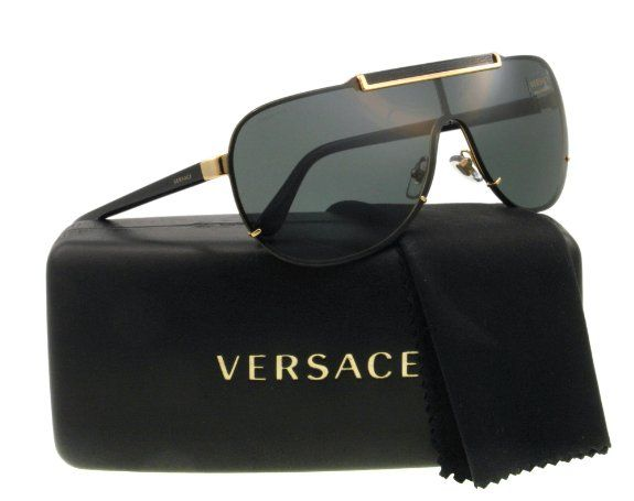 e4e0581188 Amazon.com  Versace Sunglasses VE 2140 BLACK 1002 87 VE2140  Versace   Clothing