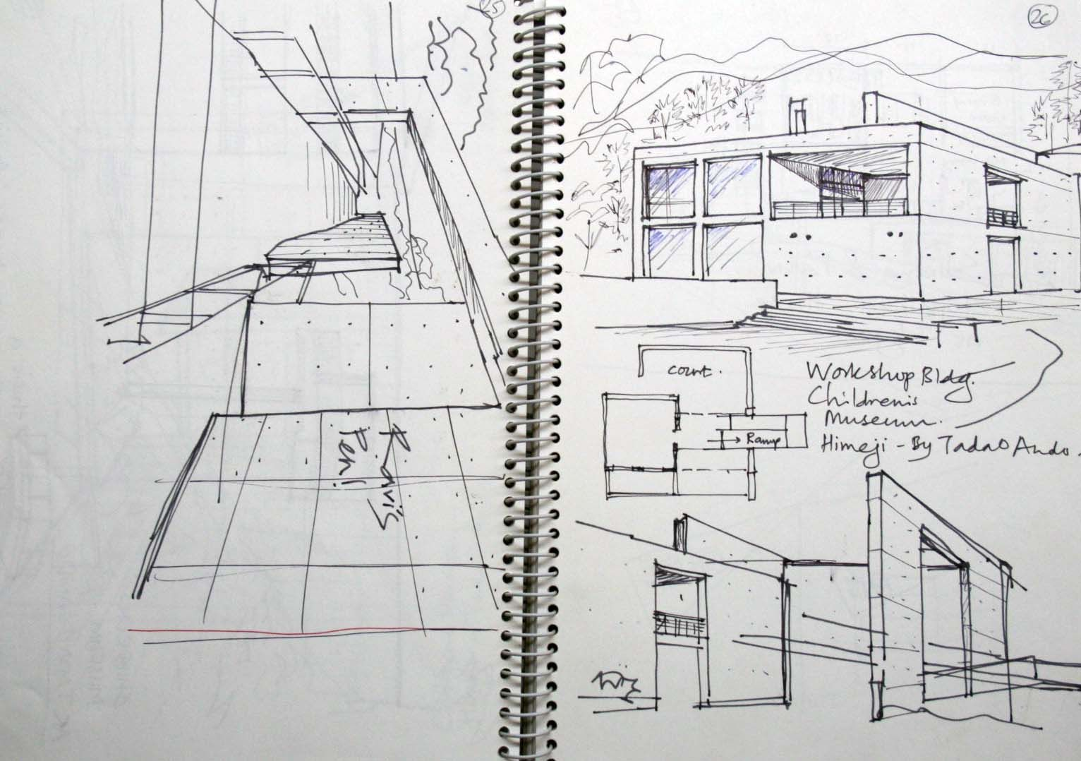 Modern Architecture Sketches urban sketchers: some more tadao ando sketches. | modern