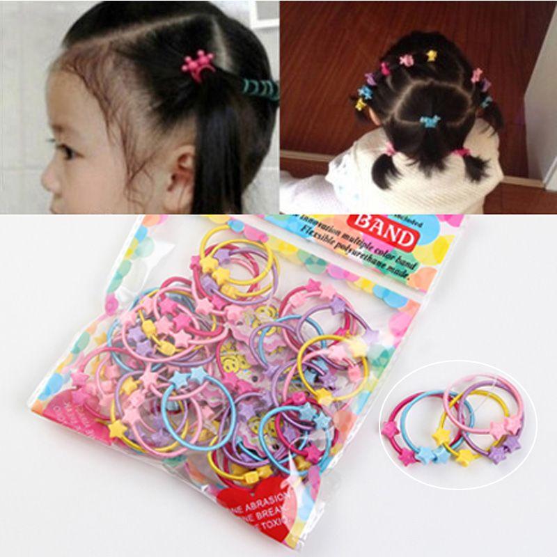 1Pack Children Hair Rope Candy Color Kids Elastic Hair Ring Girl Ponytail Holder