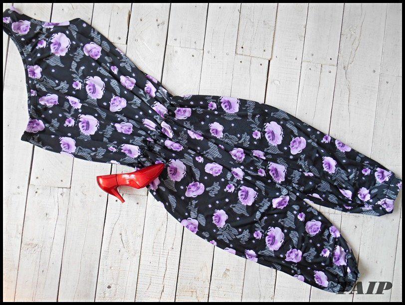 Fantastyczny Czarny Kombinezon W Kwiaty 36 38 6067966771 Oficjalne Archiwum Allegro Allegro