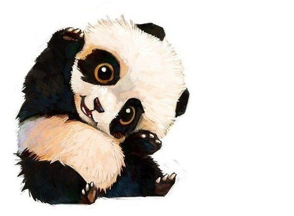 Pin By Wawa Dan On 油画 壁画 Dessin Panda Dessin Animaux Mignons