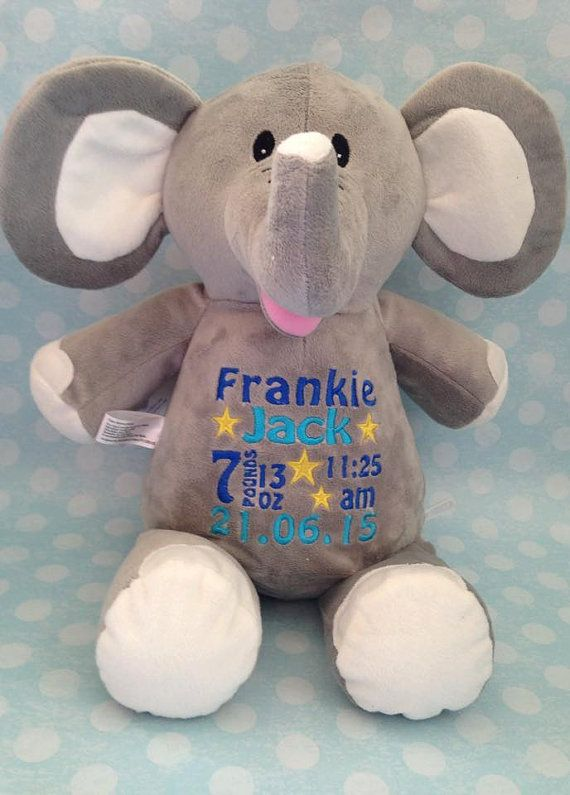 Personalised elephant teddy cubbie personalised teddy newborn personalised elephant teddy cubbie personalised teddy newborn gift newborn keepsake birth block customised teddy negle Image collections