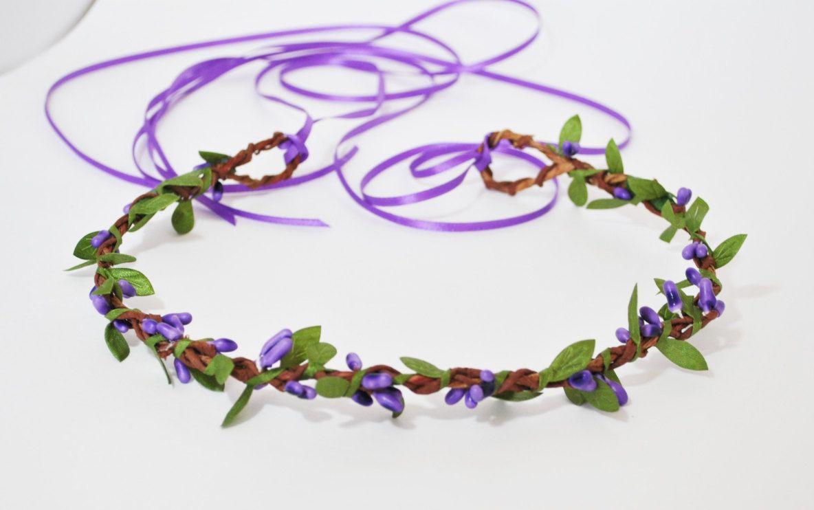 Purple Flower Crown Violet Flower Crown Flower Crown Violet Crown