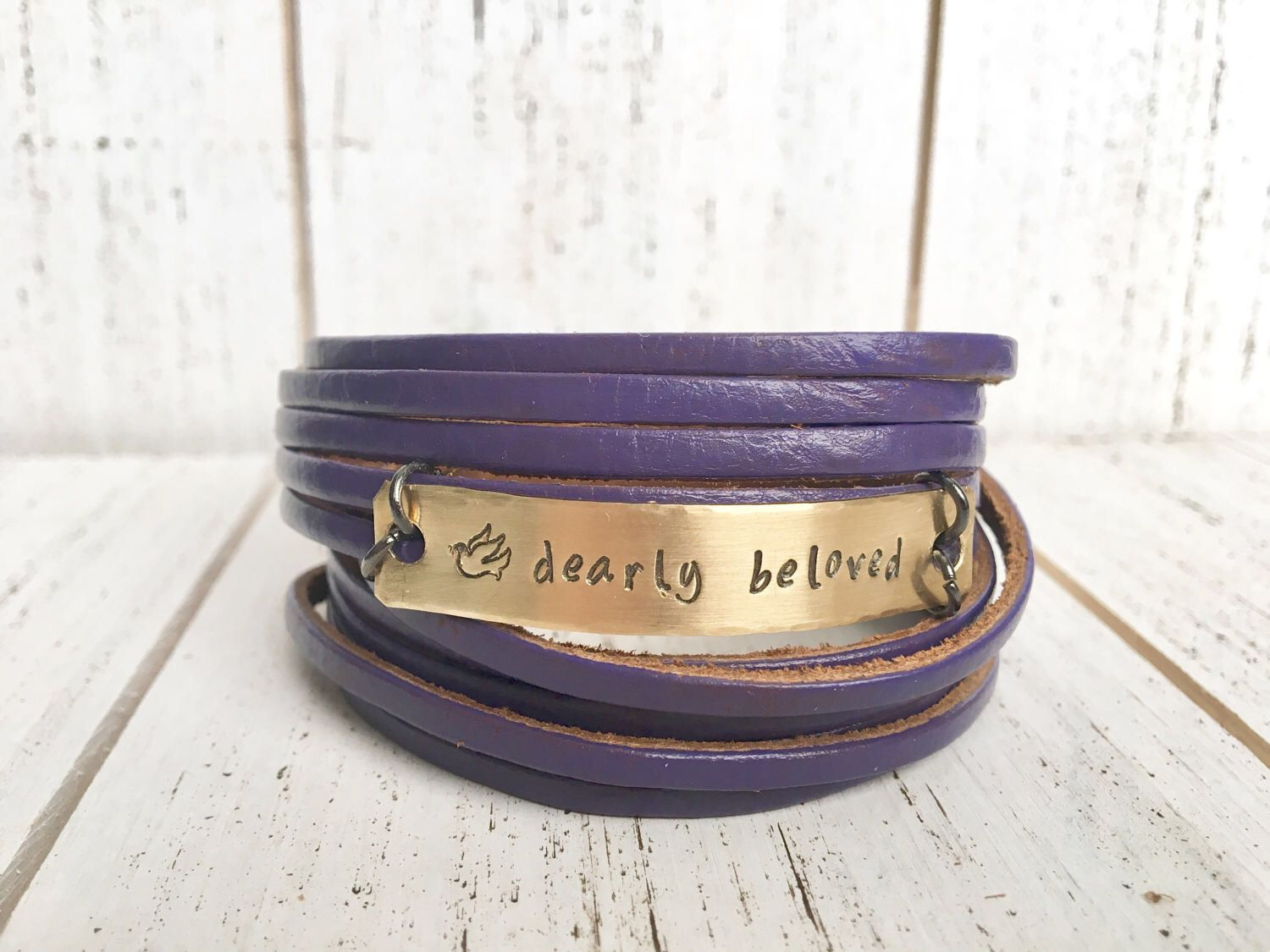 A personal favorite from my Etsy shop https://www.etsy.com/listing/281487256/prince-dearly-beloved-purple-double