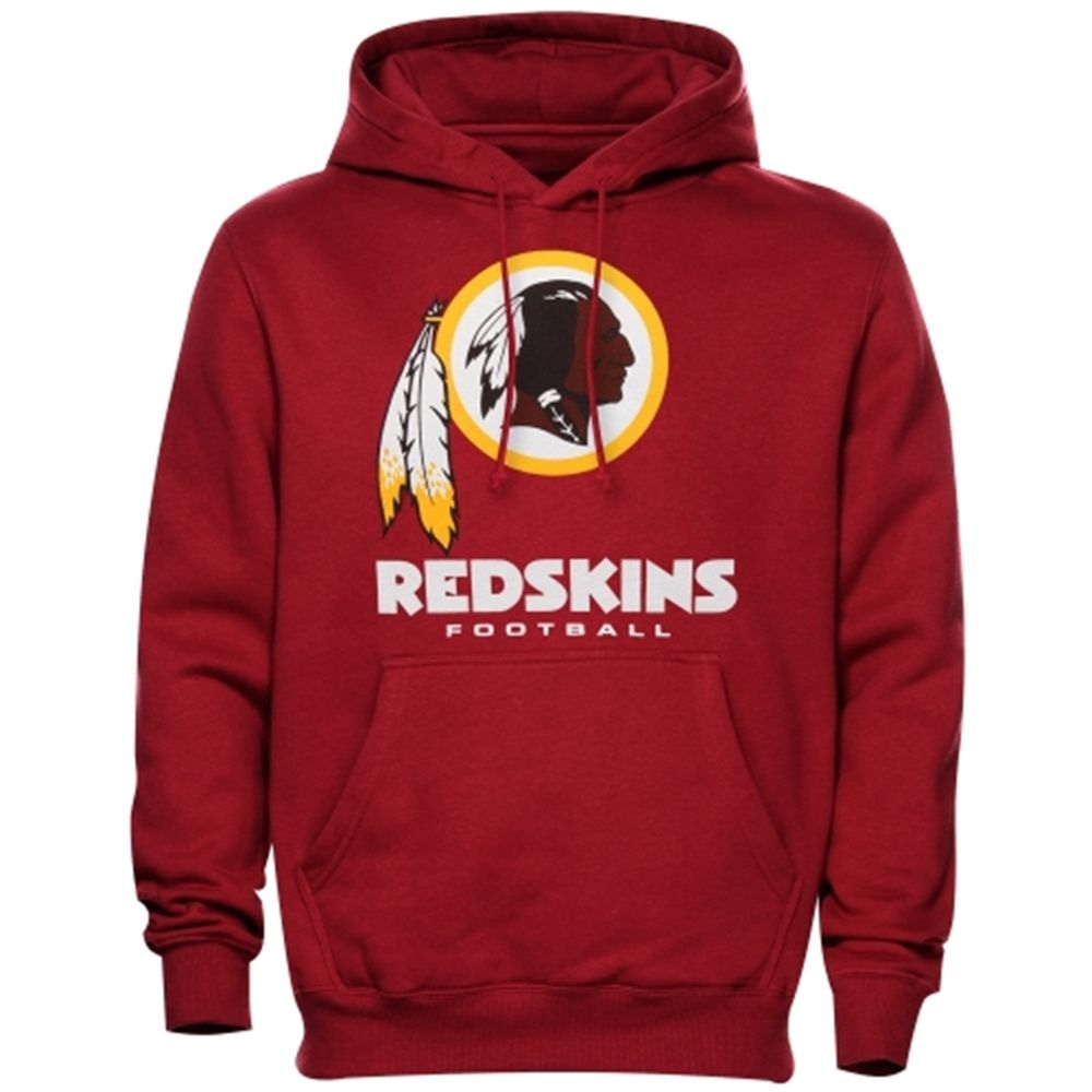 3423c2a4f Mens Washington Redskins Burgundy Critical Victory Pullover Hoodie ...