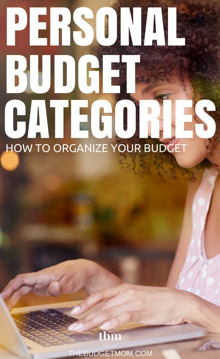 personal budget categories organizing your budget pinterest