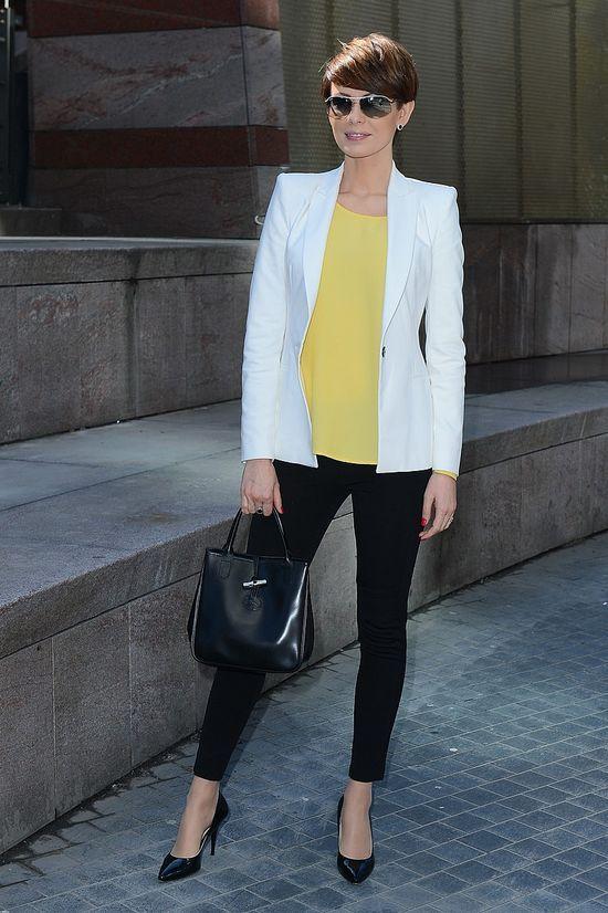 10c8540692681 Dorota Gardias w białej marynarce | white blezer | Blazer, Fashion ...