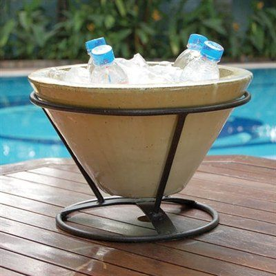 Keep your drinks cool with this classy table top beverage holder by Alfresco Home