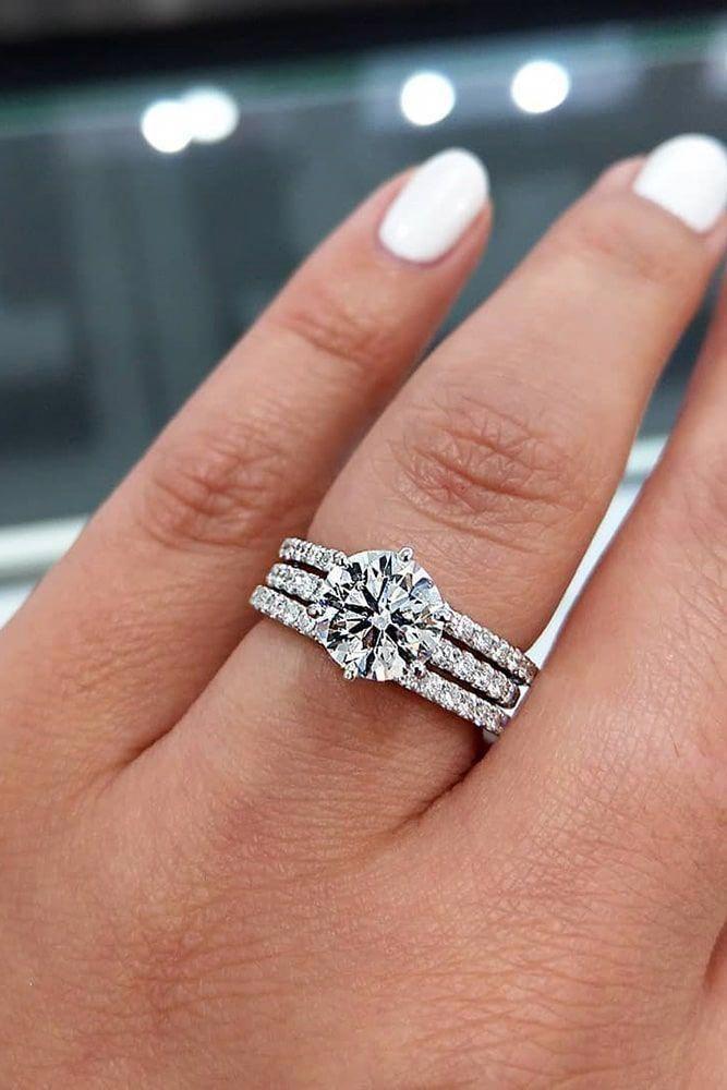 Natural Aquamarine Engagement Ring 14k White Gold Diamond Wedding