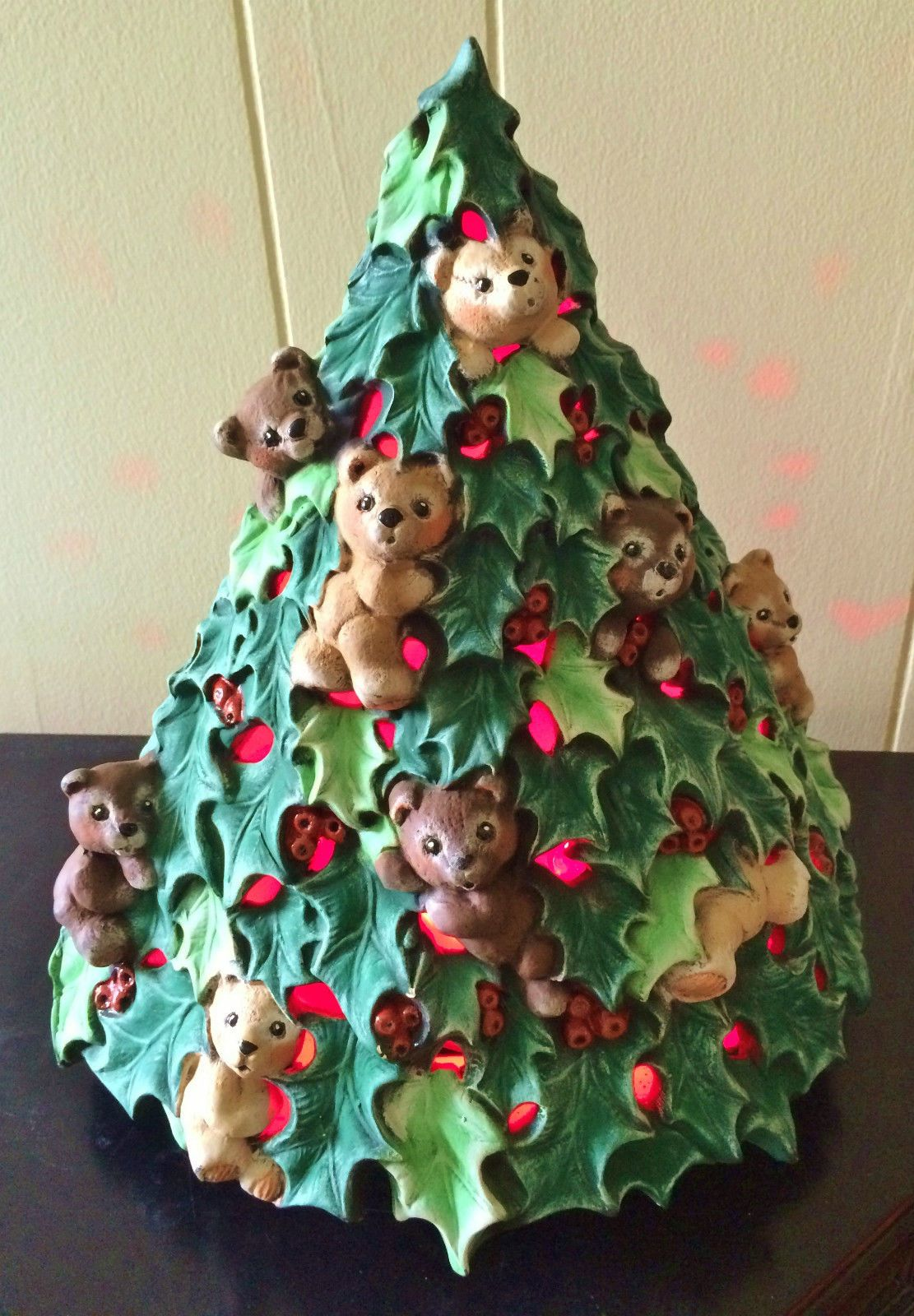 Details About Gare 14 Ceramic Bisque Teddy Bear Christmas Tree