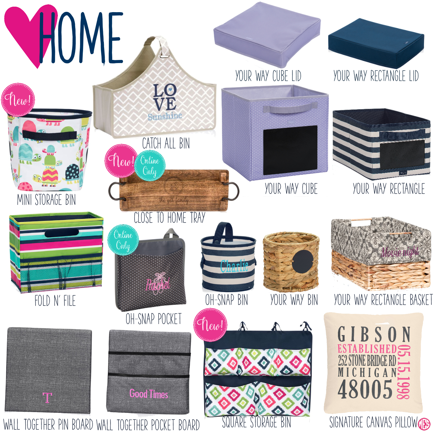 Oh snap bin ideas - Thirty One Home
