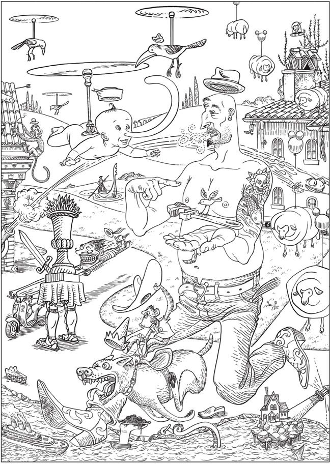 Creative Haven Bizarro Land Coloring Book By Bizarro Cartoonist Dan Piraro Dover Coloring Pages Drawing Painting Images Coloring Books
